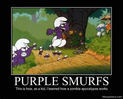 Baby Smurf Meme - purple smurfs demotivational posters know your meme