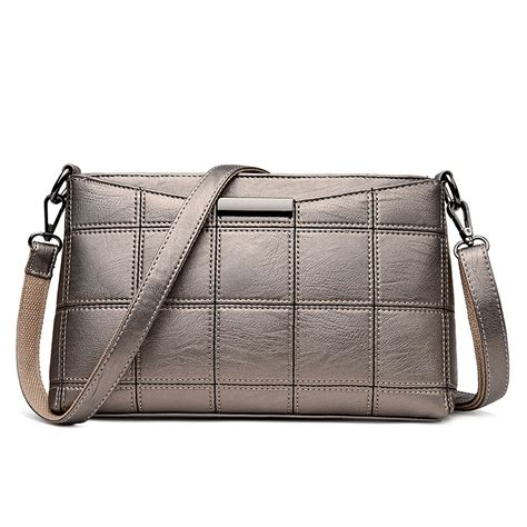 Plaid Bag genuine leather plaid messenger bags crossbody bag