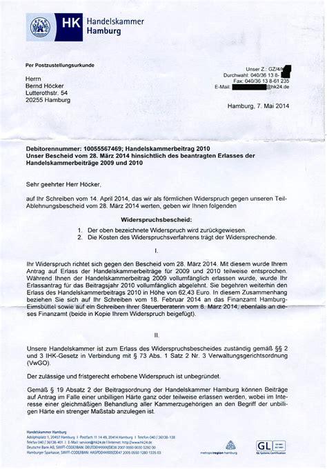 Musterbrief Widerspruch Gez Gebühren Handelt Die Hamburger Handelskammer Rechtswidrig