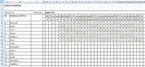 Employee Shift Scheduling Spreadsheet Staff Scheduling Shift Scheduling Spreadsheet