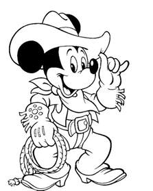 mickey mouse wear costum cowboy coloring pages mickey mouse coloring pages kidsdrawing
