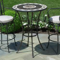Outdoor Patio Table And Chairs Furniture Bar Counter Height Condo Balcony Patio