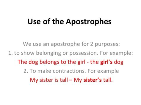 do you use an apostrophe to show possession how to use apostrophes