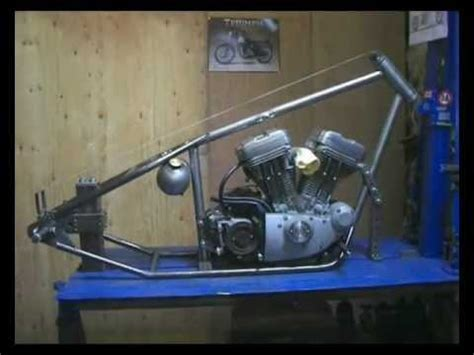 build an a frame building a harley davidson sportster custom chopper hardtail frame part 2 youtube