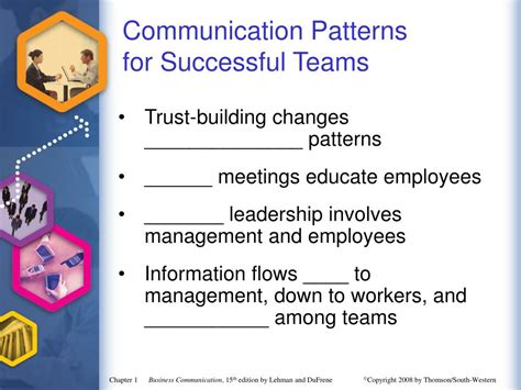 patterns of business communication ppt ppt establishing a framework for business communication