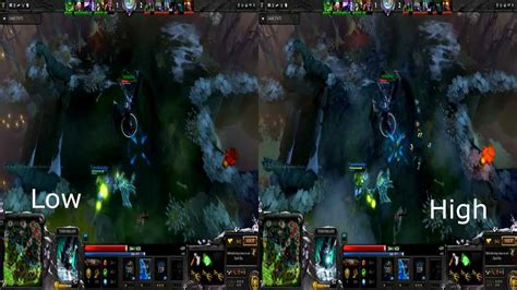Dota 2 Graphic 2 dota2 low vs high graphics comparison 1080p