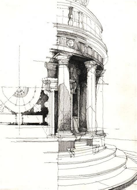 Sketches Architecture by Architectural Sketches Freehand Sketches Black And
