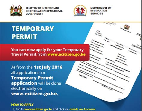 how to how to apply for temporary travel permit in kenya