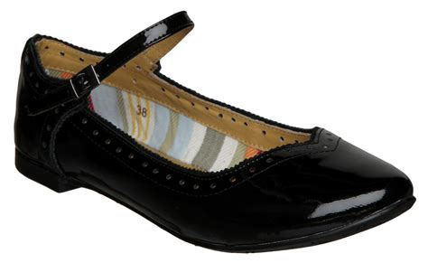 flat black shoes uk new bertie meribelwomens black patent flat