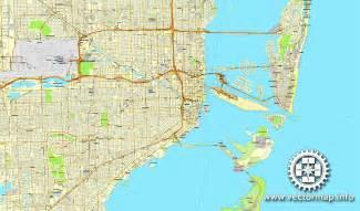 miami florida us printable vector city plan map 4