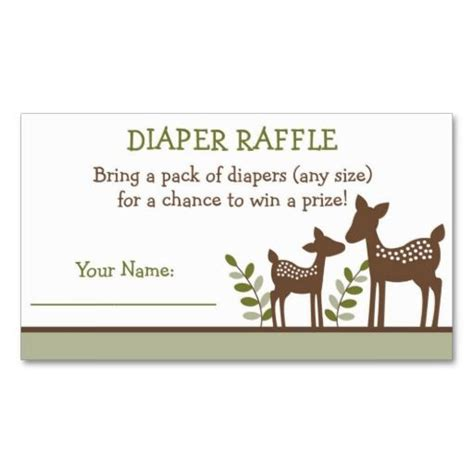 business card raffle template baby deer raffle tickets business card templates