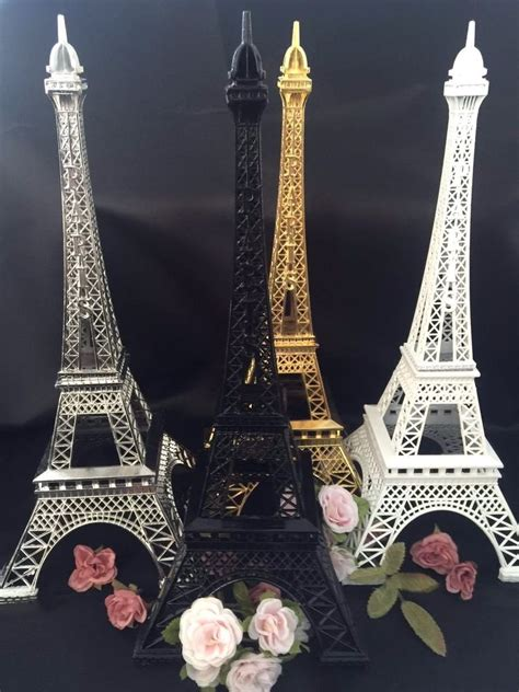 Eiffel Tower Wedding Decor by 12 Quot Metal Eiffel Tower Statue Centerpieces Wedding