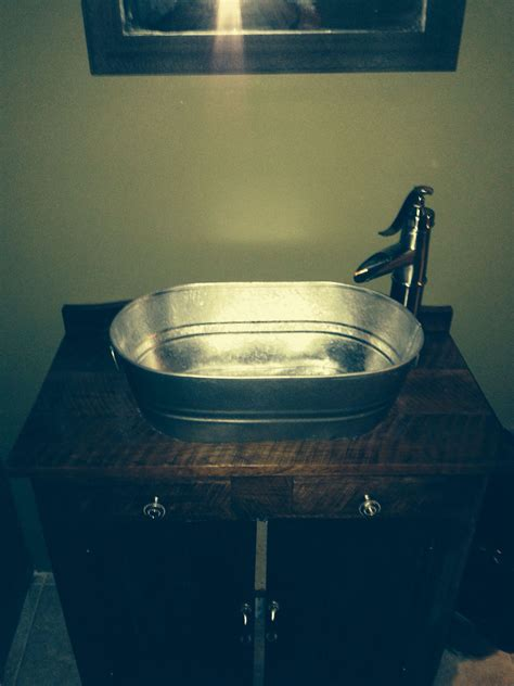 Wash Tub Sink by Diy Sink With A Galvanized Washtub As The Sink And