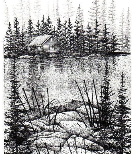 cabin   woods stampscapes downloads  sketches