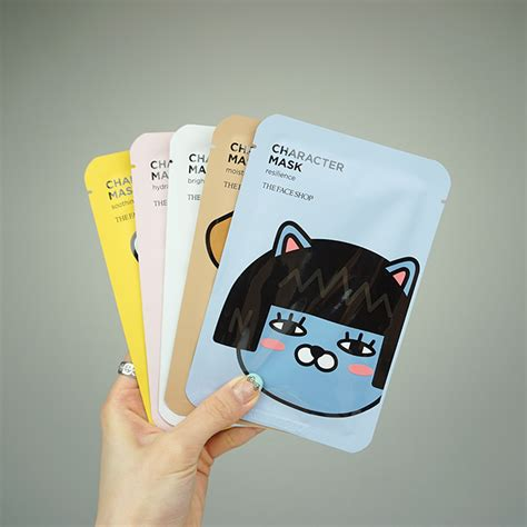 The Faceshop Mask the shop character mask kakao friends review