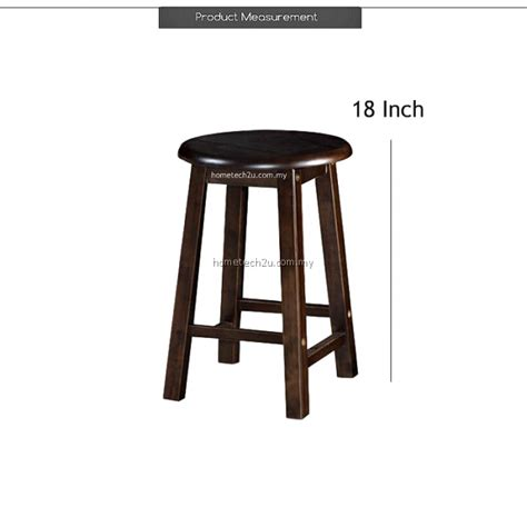 shop bar stool uhome 18 inch rounded wooden bar stool chair for coffee
