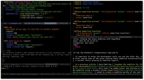 theme line themefile tweaking emacs modeline with powerline jr0cket