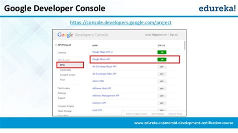 android developer console getting started with android development