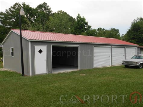 4 car carport 24x51 vertical roof four car garage buy metal carports
