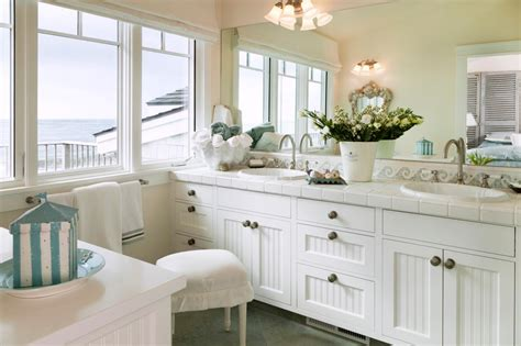 coastal bathroom vanities coastal bathroom with beadboard vanity white bead board
