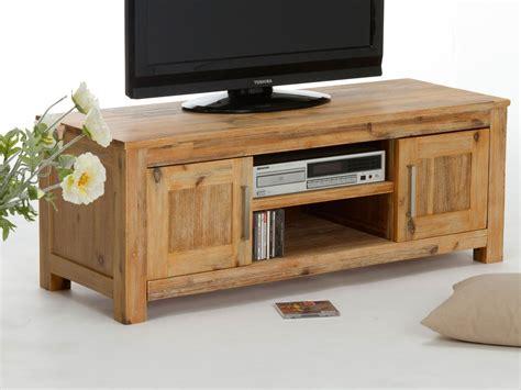 meuble tv acacia table bois tranche wraste