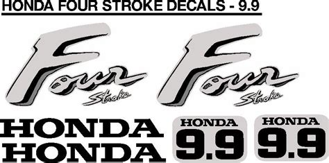Honda 9 9 Sticker by Honda 9 9hp Motor Cowl Decals Stickers Graphics Kits Cape