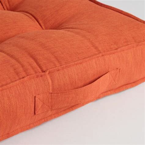 world market floor ls orange khadi tufted floor cushion world market