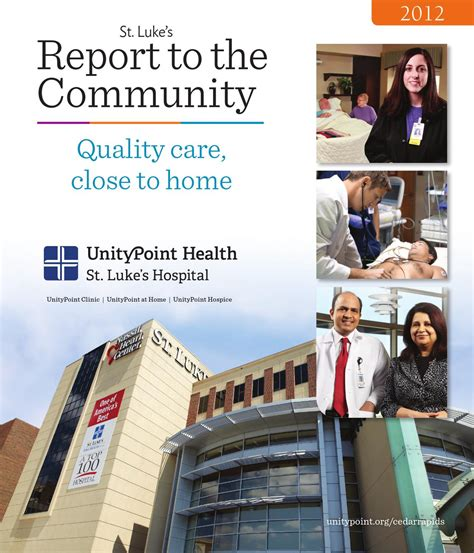 unitypoint health st luke s hospital annual report to the