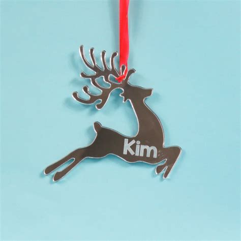 Mirror Reindeer reindeer decoration mirror acrylic time