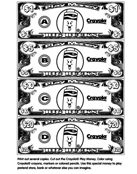 free money coloring pages dollar bills