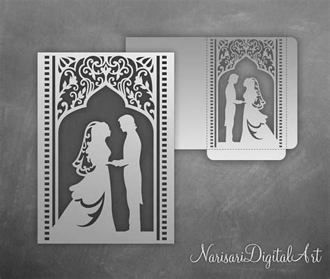 free wedding gate fold card template silhouette groom pocket fold wedding invitation envelope 5x7