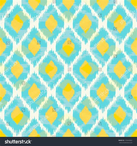 blue yellow pattern modern tribal ikat blue yellow fashion stock vector