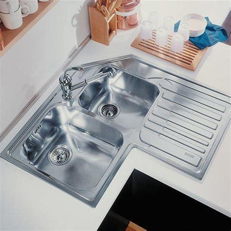 Franke Corner Kitchen Sinks by Franke Studio Stx621 Inset Corner Sink Rh Drainer