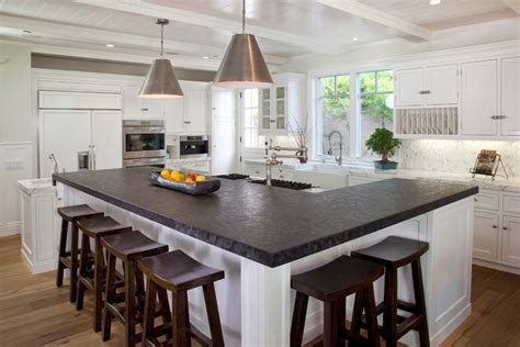 l shaped island kitchen traditional with materials