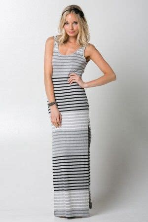 Dress Solemio New Arrival style number s4d1580f73 stripe jersey casual maxi dress
