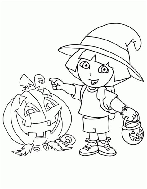 coloring pages halloween princess dora halloween coloring pages bestofcoloring com