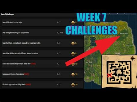 fortnite week 7 challenges fortnite week 7 challenges and treasurer map location