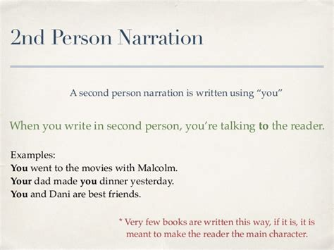 Second Person Essay by Narration 1st 2nd And 3rd