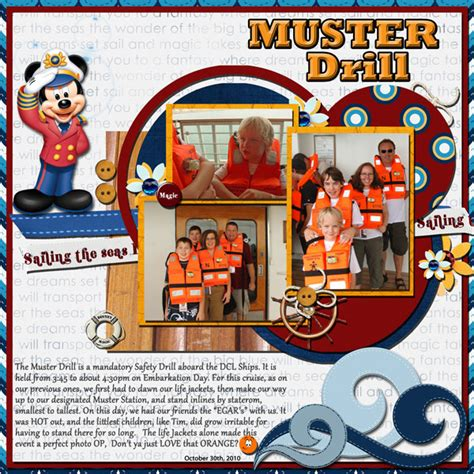 Muster Drill dcl quot misc quot layouts page 11 mousescrappers