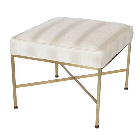 Ottoman With Stools Paul Mccobb Brass X Base Ottoman Foot Stool At 1stdibs