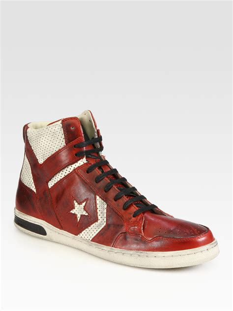 converse leather sneakers converse midtop leather sneakers in for
