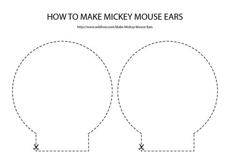 minnie mouse ears headband template joy studio design