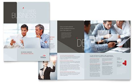 custom brochure templates corporate business brochure template word publisher