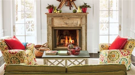 What To Put On Your Fireplace Mantel by 25 Cozy Ideas For Fireplace Mantels Southern Living