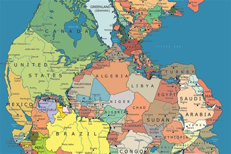 map world before land separated pangea redrawn with today s political boundaries co
