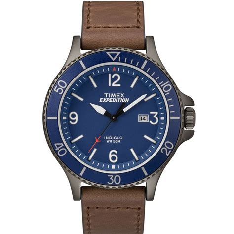 Swiss Army Doubleclock Lightbrown timex tw4b10700 expedition ranger blue leather