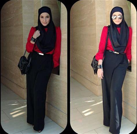 tutorial hijab inneke koesherawati hijab style gaya cantik dan elegan inneke koesherawati 5
