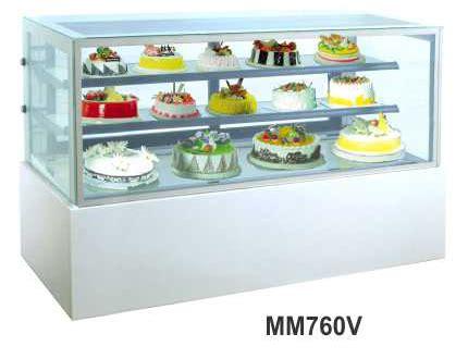 Es Krim 8 Liter Khusus Gosend jual mesin pemajang kue kaca datar rectangular cake showcase kapasitas 552 liter mm760v