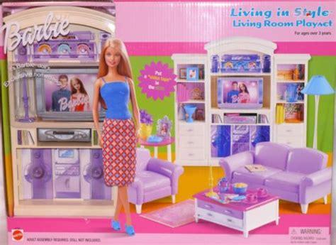 barbie living room living room barbie furniture living in style new mattel