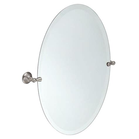 for sale brushed nickel standard oval pivoting bathroom moen sage 26 in x 23 in frameless pivoting wall mirror
